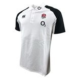 2018-2019 England Rugby Vapordri Performance Cotton Polo Shirt (White)