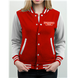 Strawberry Field - Logo - Unisex Varsity Jacket Red