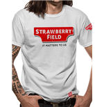 Strawberry Field - Logo - Unisex T-shirt White