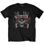 Guns N' Roses Men's Tee: Distressed Skull