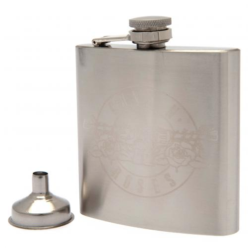 Guns N Roses Chrome Hip Flask
