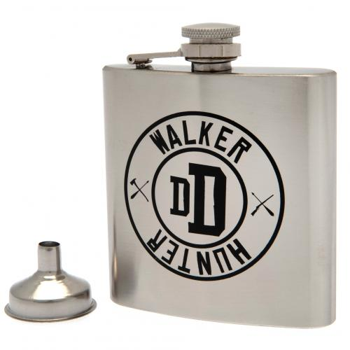 The Walking Dead Chrome Hip Flask