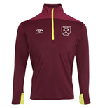 2018-2019 West Ham Half Zip Training Top (Burgundy)
