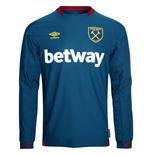 2018-2019 West Ham Long Sleeve Away Football Shirt