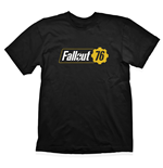 FALLOUT Vault 76 Logo T-Shirt, Male, Extra Large, Black