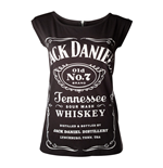 JACK DANIEL'S Old No.7 Brand Shirt with Back Zipper, Female, Extra Extra Large, Black