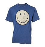 SMILEY Original Smiley Logo Faux Denim T-Shirt, Male, Extra Large, Blue
