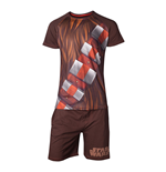 STAR WARS Chewbacca Shortama Nightwear Set, Male, Medium, Brown