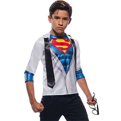 SUPERMAN Youth Shirt And Tie Costume Shirt