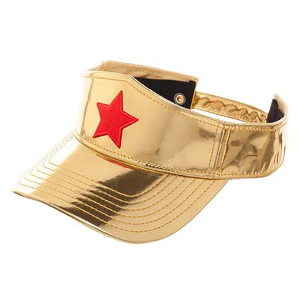 WONDER WOMAN Women's Golden Visor Hat