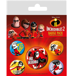 The Incredibles 2 Pin Badges 5-Pack Family