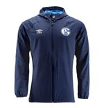 2018-2019 Schalke Umbro Shower Jacket (Blue)
