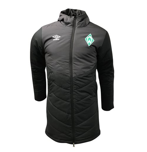 2018-2019 Werder Bremen Umbro Padded Jacket (Black) - Kids