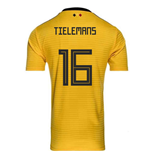 2018-2019 Belgium Away Adidas Football Shirt (Tielemans 16)