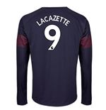 2018-2019 Arsenal Puma Away Long Sleeve Shirt (Lacazette 9) - Kids