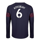 2018-2019 Arsenal Puma Away Long Sleeve Shirt (Koscielny 6)