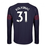 2018-2019 Arsenal Puma Away Long Sleeve Shirt (Kolasinac 31) - Kids