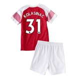 2018-2019 Arsenal Home Little Boys Mini Kit (Kolasinac 31)