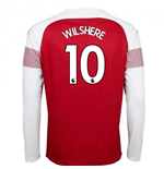 2018-2019 Arsenal Puma Home Long Sleeve Shirt (Wilshere 10)