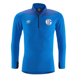 2018-2019 Schalke Umbro Half Zip Training Top (Electric Blue)
