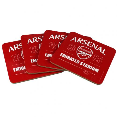 Arsenal F.C. 4pk Coaster Set