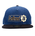 FALLOUT 76 Logo Badge Snapback Baseball Cap, Unisex, One Size, 53 to 60cm, Blue/Black