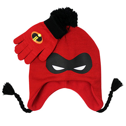 INCREDIBLES Peruvian Red Hat And Gloves