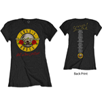 Guns N' Roses Ladies Tee: Not In This Lifetime Tour (Back Print)