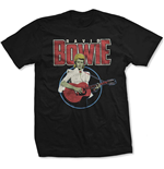 David Bowie Men's Tee: Acoustic Bootleg