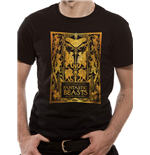 Crimes Of Grindelwald - Gold Foil Book Cover - Unisex T-shirt Black