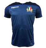 2018-2019 Italy Macron Rugby Poly Training Shirt (Blue)