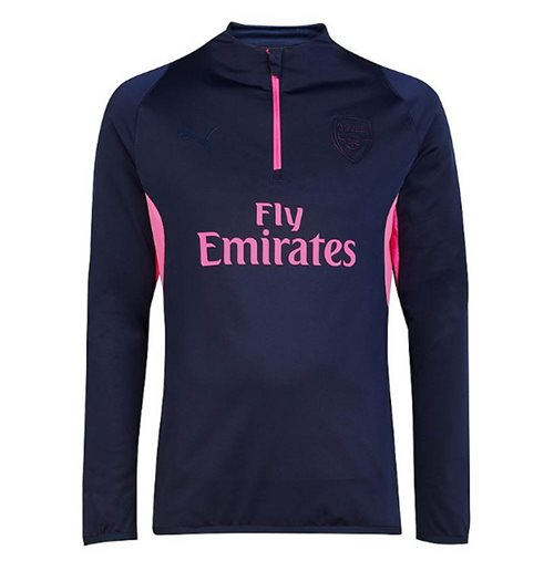 2018-2019 Arsenal Puma ECL Half Zip Training Top (Peacot)