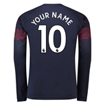2018-2019 Arsenal Puma Away Long Sleeve Shirt (Your Name)