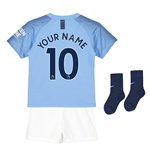 2018-2019 Man City Home Nike Little Boys Mini Kit (Your Name)
