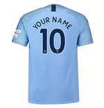 2018-2019 Man City Home Nike Football Shirt (Your Name) -Kids