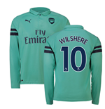 2018-2019 Arsenal Puma Third Long Sleeve Shirt (Wilshere 10)