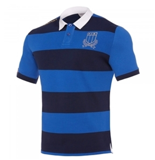 Italy Polo Shirt Rugby Stripes