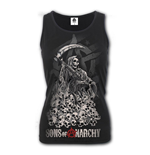 Soa Reaper Skulls - Razor Back Top Black