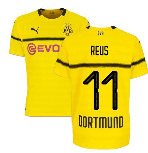 meet 2b5aa 9ce71 2018-19 Borussia Dortmund Home UCL Football Shirt (Reus 11) - Kids