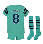 2018-2019 Arsenal Third Little Boys Mini Kit (Ramsey 8)