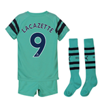 2018-2019 Arsenal Third Little Boys Mini Kit (Lacazette 9)