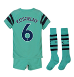 2018-2019 Arsenal Third Little Boys Mini Kit (Koscielny 6)