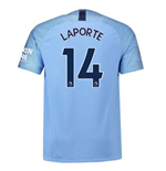 2018-2019 Man City Nike Vapor Home Match Shirt (Laporte 14)
