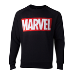 MARVEL COMICS Chenille Logo Sweater, Male, Extra Large, Black