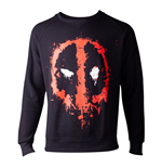 MARVEL COMICS Deadpool Dripping Mask Sweater, Male, Small, Black