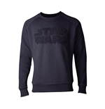 STAR WARS Chenille Logo Sweater, Male, Large, Black