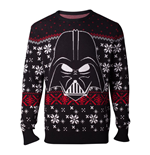 STAR WARS Star Wars The Last Jedi Darth Vader Christmas Knitted Sweater, Male, Extra Large, Black