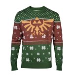 The Legend of Zelda Knitted Christmas Sweater Golden Logo Red & Green
