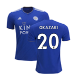2018-2019 Leicester City Puma Home Football Shirt (Okazaki 20)