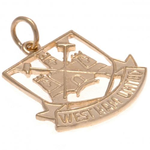 West Ham United F.C. 9ct Gold Pendant Castle